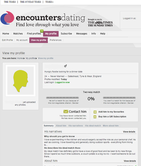 Encounters dating discount